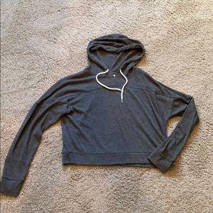 Lightweight crop hoodie